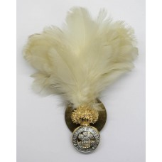 Royal Welsh Fusiliers Anodised (Staybrite) Cap Badge with Feather Hackle/Plume