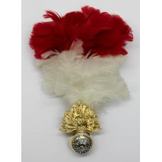 Royal Regiment of Fusiliers Anodised (Staybrite) Cap Badge with Feather Hackle/Plume
