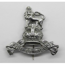 Royal Army Pay Corps (R.A.P.C.) Chromed Sweetheart Brooch/Lapel Badge