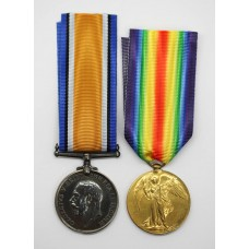 WW1 British War & Victory Medal Pair - Pte. J.H. Dawes, 8th B