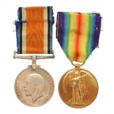 WW1 British War & Victory Medal Pair - Pte. C. Turner, Essex