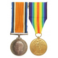 WW1 British War & Victory Medal Pair - Pte. W.K. Findlay, Arg