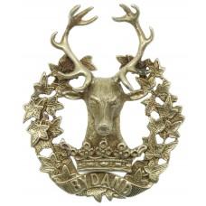 Gordon Highlanders Officer's Glengarry Badge