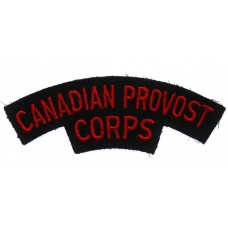 Canadian Provost Corps (CANADIAN PROVOST/CORPS) Cloth Shoulder Title