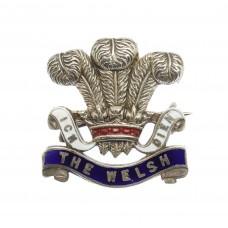 WW1 Welsh Regiment Enamelled Sweetheart Brooch
