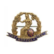 WW1 Norfolk Regiment Enamelled Sweetheart Brooch