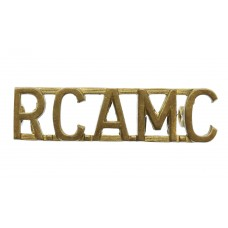 Royal Canadian Army Medical Corps (R.C.A.M.C.) Shoulder Title