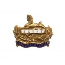 Gloucestershire Regiment Enamelled Sweetheart Brooch