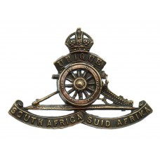South African Artillery Cap Badge - King's Crown (Revolving Wheel)