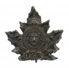 Canadian 127th (12th Regt. York Rangers) Infantry Bn. C.E.F. WWI Cap Badge