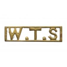 WW2 East African Women's Transport Service (W.T.S.) Cast Shoulder Title