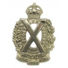 Scottish Horse Yeomanry Cap Badge - King's Crown
