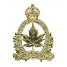 Canadian British Columbia Dragoons Cap Badge - King's Crown