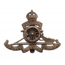 WWI Canadian Field Artillery Cap Badge (Revolving Wheel)