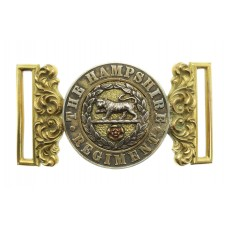 Victorian Hampshire Regiment Officer's Waist Belt Clasp (Post 1881)