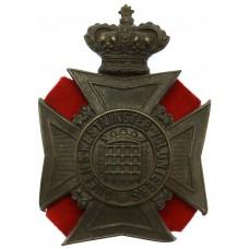 Victorian Queen's Westminster Volunteers Helmet Plate