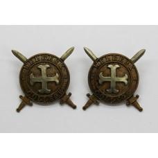 Pair of Welbeck College O.T.C. Collar Badges