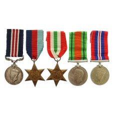WW2 Military Medal (Immediate Award) Group of Five - Fsr. W. Cars