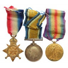 WW1 1914 Mons Star Medal Trio - L.Cpl. E. Wheeler, Coldstream Guards