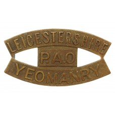 Scarce Leicestershire Yeomanry (LEICESTERSHIRE/P.A.O./YEOMANRY) Shoulder Title (c.1952-57)