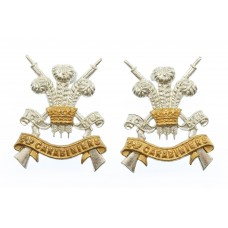 Pair of 3rd Carabiniers Officer's Collar Badges