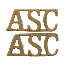 Pair of Army Service Corps (A.S.C.) Shoulder Titles