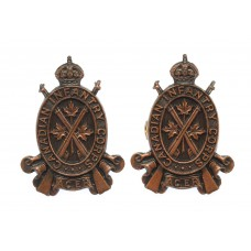 Pair of Canadian Infantry Corps Collar Badges - King's Crown