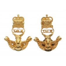 Pair of Canadian South Alberta Light Horse (S.A.L.H.) Collar Badges - Queen's Crown