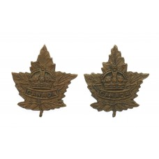 Pair of Canadian WW2 General Service Collar Badges