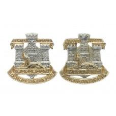 Pair of Devon & Dorset Regiment Anodised (Staybrite) Collar B