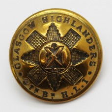9th Bn. H.L.I. Glasgow Highanders Officer's Button (Large)