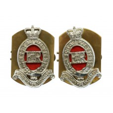 Pair of Royal Horse Artillery (R.H.A.) Anodised (Staybrite) Colla