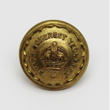 North Somerset Yeomanry Officer's Button - King's Crown (Small)