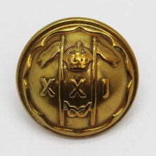 21st Lancers (Empress of India's) Officer's Button - King's Crown