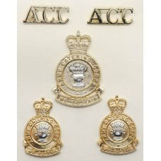 Army Catering Corps (A.C.C.) Anodised (Staybrite) Badge Set