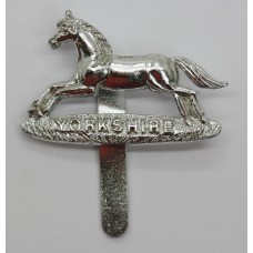 Prince of Wales's Own Regiment of Yorkshire Anodised (Staybrite) Cap Badge