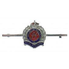 George VI Royal Engineers Enamelled Sweetheart Brooch - King's Cr