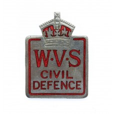 Women's Voluntary Service (W.V.S.) Civil Defence Lapel Badge