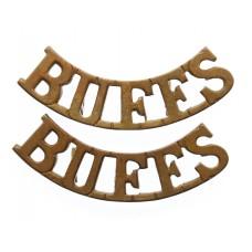 Pair of Buffs East Kent Regiment (BUFFS) Shoulder Titles