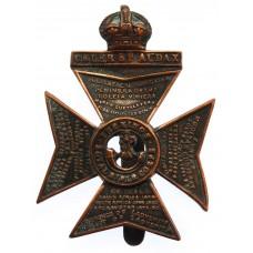 King's Royal Rifle Corps (K.R.R.) Cap Badge - King's Crown