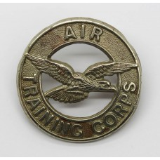 Air Training Corps White Metal Cap Badge