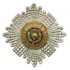Scots Guards Officer's Silver, Gilt & Enamel Cap Badge (c.1925)