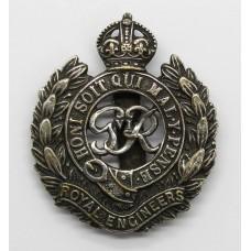George VI Royal Engineers Chromed Cap Badge