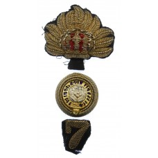 Victorian 7th (Royal Fusiliers) Regiment of Foot Officer's Forage Cap Badge )c.1874-81)