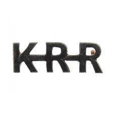King's Royal Rifle Corps (K.R.R.) Shoulder Title
