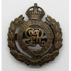 George V Royal Engineers Officer's Service Dress Cap Badge