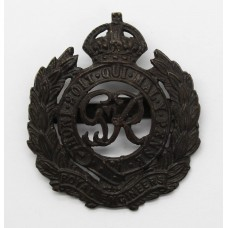 George VI Royal Engineers Officer's Service Dress Cap Badge