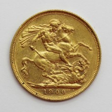 1900 M Victoria 22ct Gold Full Sovereign Coin (Melbourne Mint)