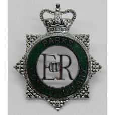 Parks Constabulary Enamelled Cap Badge - Queen's Crown