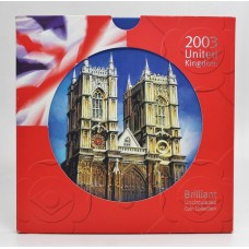 Royal Mint 2003 United Kingdom Brilliant Uncirculated Coin Collection